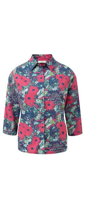 Adini Tamarind Print Shirt Tropical Pink