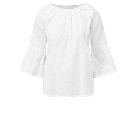 Adini Textured Dobby Vienna Blouse - White