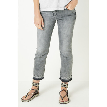 Sandwich Clothing Casual Stretch Cropped Jean - Grey