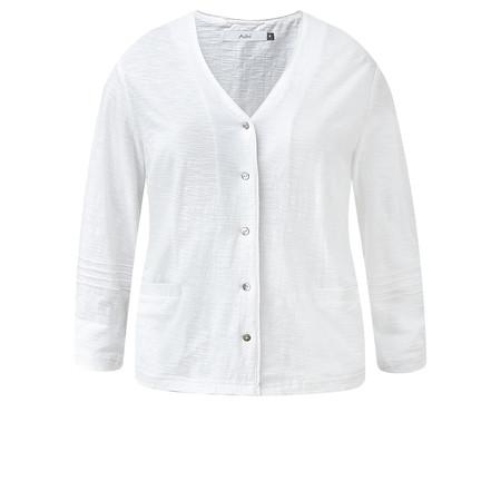Adini Cotton Slub Kasey Cardigan - White