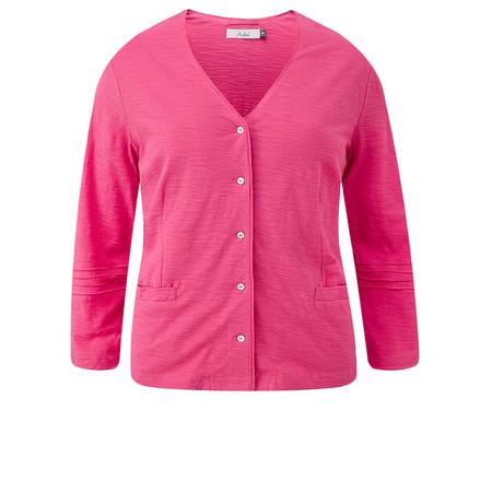 Adini Cotton Slub Kasey Cardigan - Pink