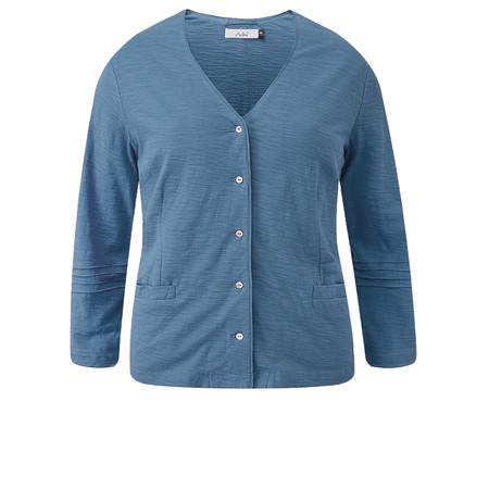 Adini Cotton Slub Kasey Cardigan - Blue