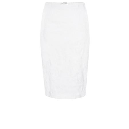 Robell Trousers Christy Jacquard Skirt - White