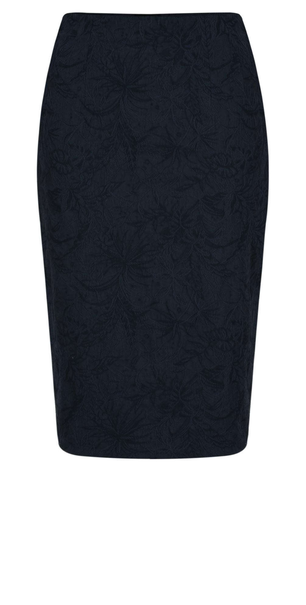 Christy Navy Jacquard Skirt main image