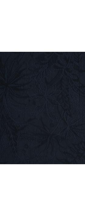 Robell Christy Navy Jacquard Skirt Navy