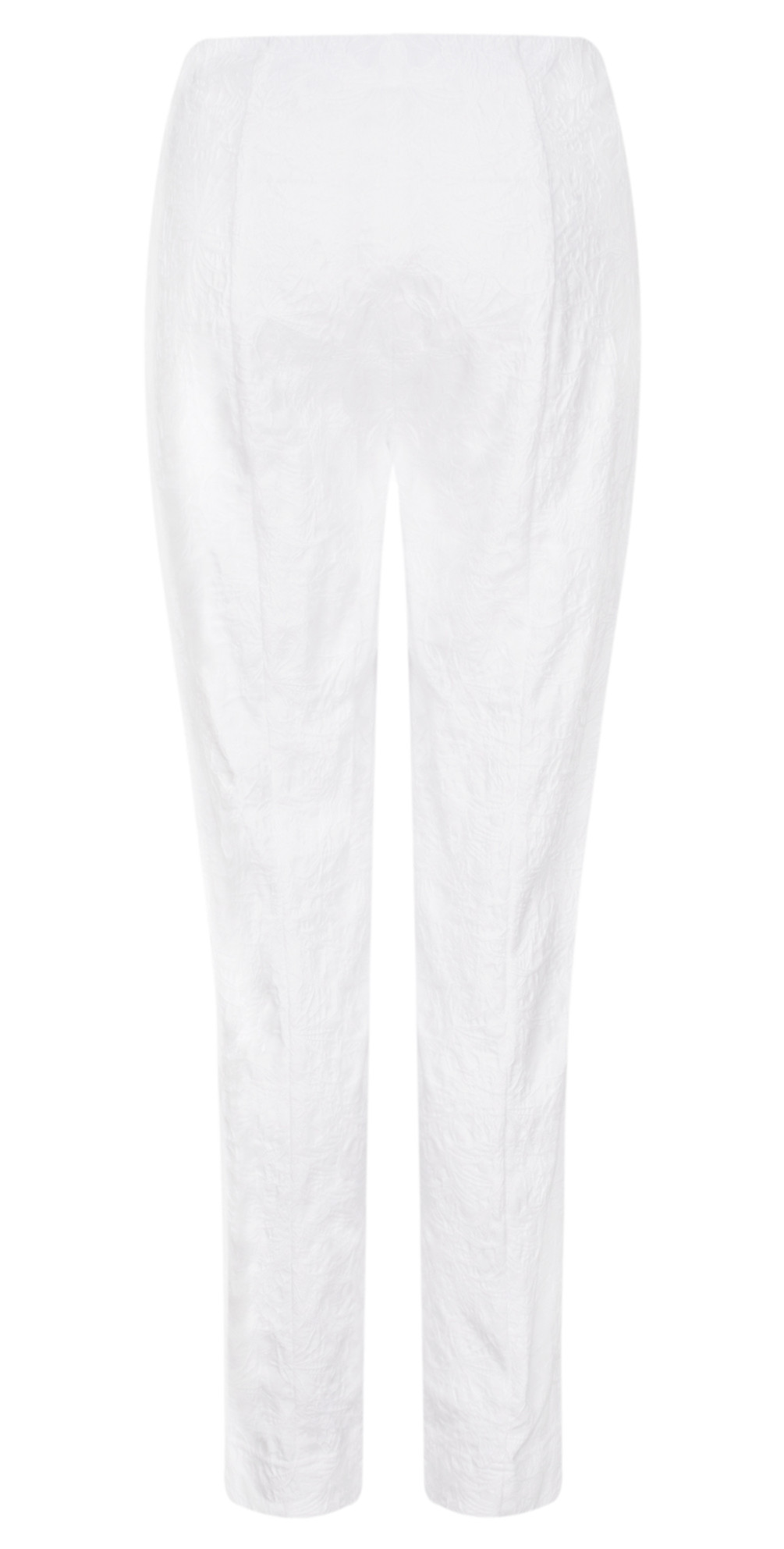 Marie White Flower Jacquard Slim Fit Trouser main image