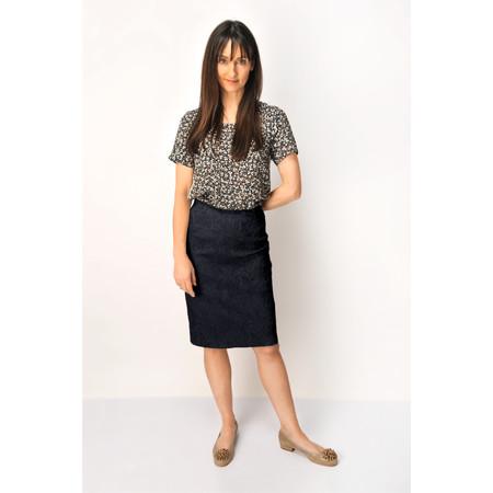Robell Trousers Christy Jacquard Skirt - Blue