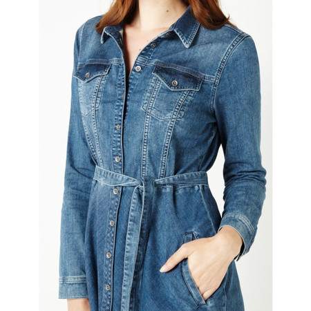 Sandwich Clothing Denim Stretch Dress - Blue