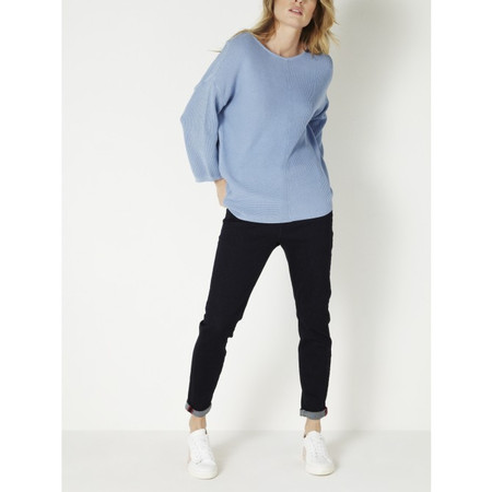 Sandwich Clothing Ribbed Cotton Sweater - Blue