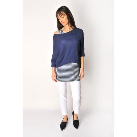 Myrine Datura Pointelle Knit - Blue