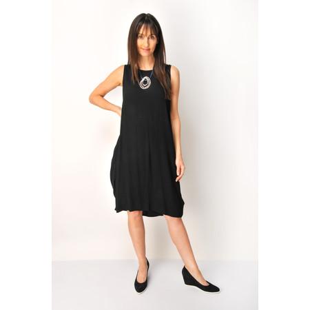 Foil Tonal Shift Bubble Dress - Black