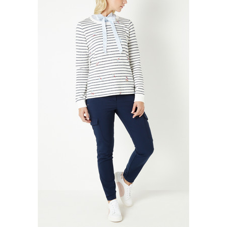 Sandwich Clothing Stripe French Terry Top - Blue