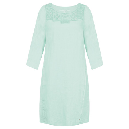 Sandwich Clothing Distressed Linen Cutout Lace Dress - Green