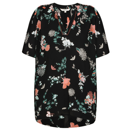 Sandwich Clothing Oriental Floral Print Blouse - Black