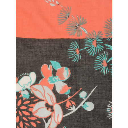 Sandwich Clothing Oriental Floral Print Scarf - Black