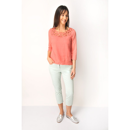 Sandwich Clothing Casual Cropped Trouser - Green