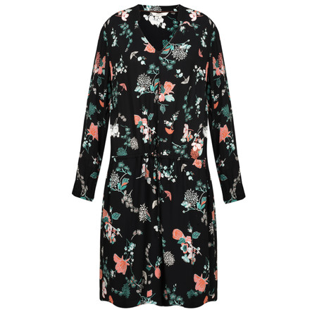 Sandwich Clothing Oriental Floral Print Dress - Black