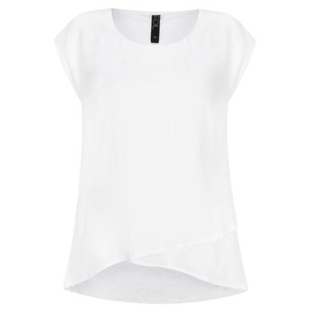 Foil Fresh Take Layered Top - White