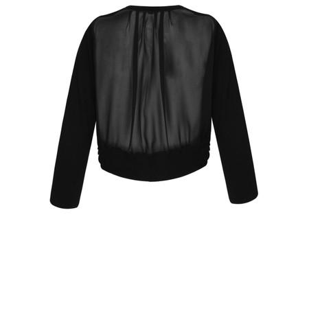 Foil Sheer Back Cardigan  - Black