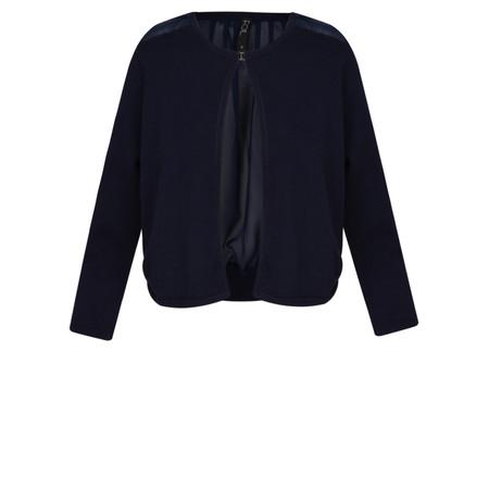 Foil Sheer Back Cardigan  - Blue