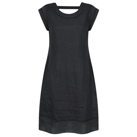 Foil Linen Dress - Blue
