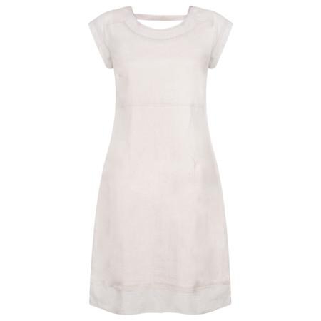 Foil Linen Dress - Beige