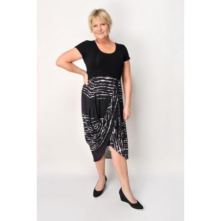 Foil Stripe Dress - Black