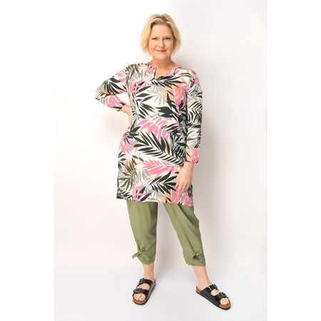 Masai Clothing Floral Leaf Gerlana Tunic - Multicoloured