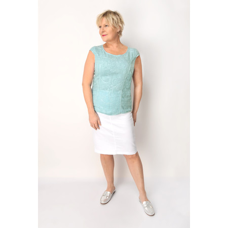 DECK Sivve Linen Shell Top - Blue