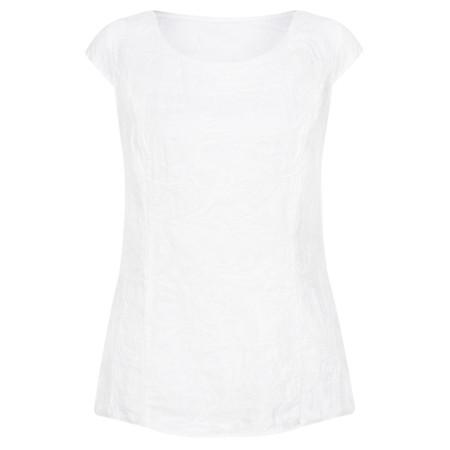 DECK Sivve Linen Shell Top - White
