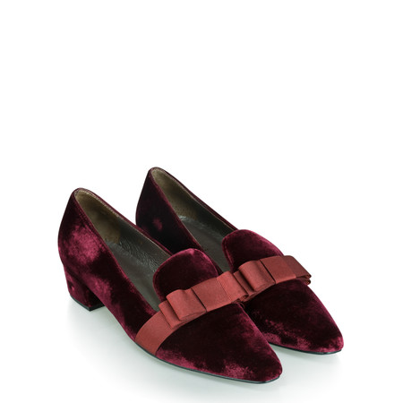 Gemini Label  Rolero Velvet Pump - Purple