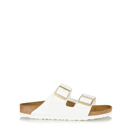 Birkenstock Arizona Birko Flor Patent Sandal - White
