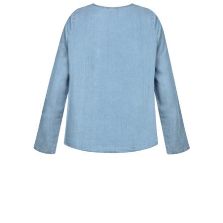 ICHI Delta Denim Shirt - Blue