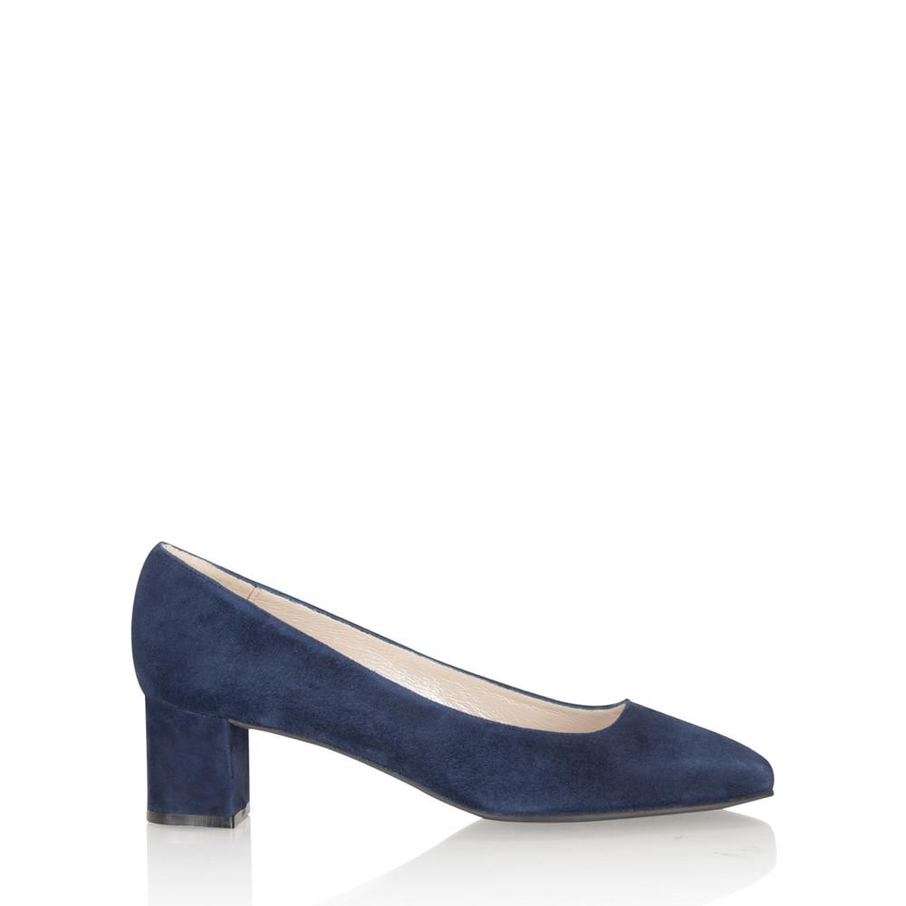 Gemini Label Shoes Lena Suede Shoe Marino Navy