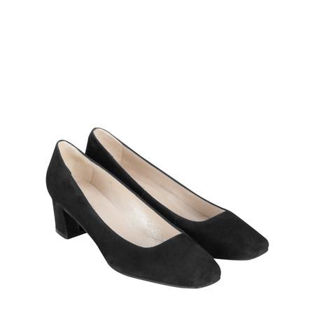 Gemini Label Lena Suede Shoe - Black