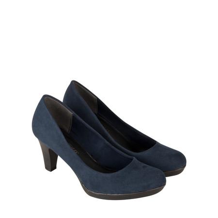 Marco Tozzi Imit Suede Shoe - Blue