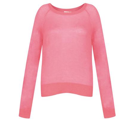 ICHI Nula Thin Knit Jumper - Pink