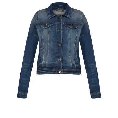 ICHI Stamp Denim Jacket - Blue