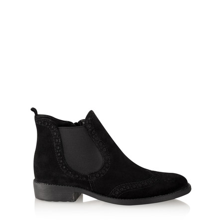 Tamaris  Erin Brogue Chelsea Boot - Black