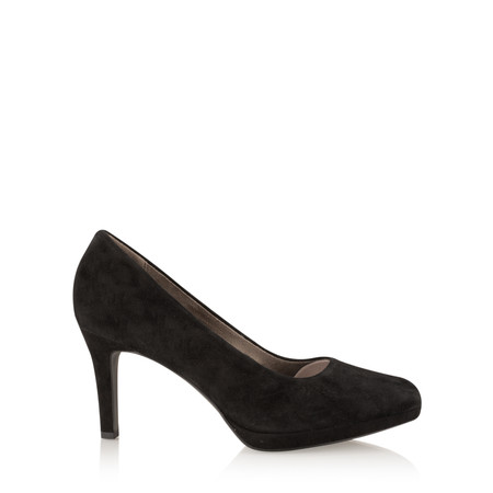 Tamaris  Leather Court Shoe - Black