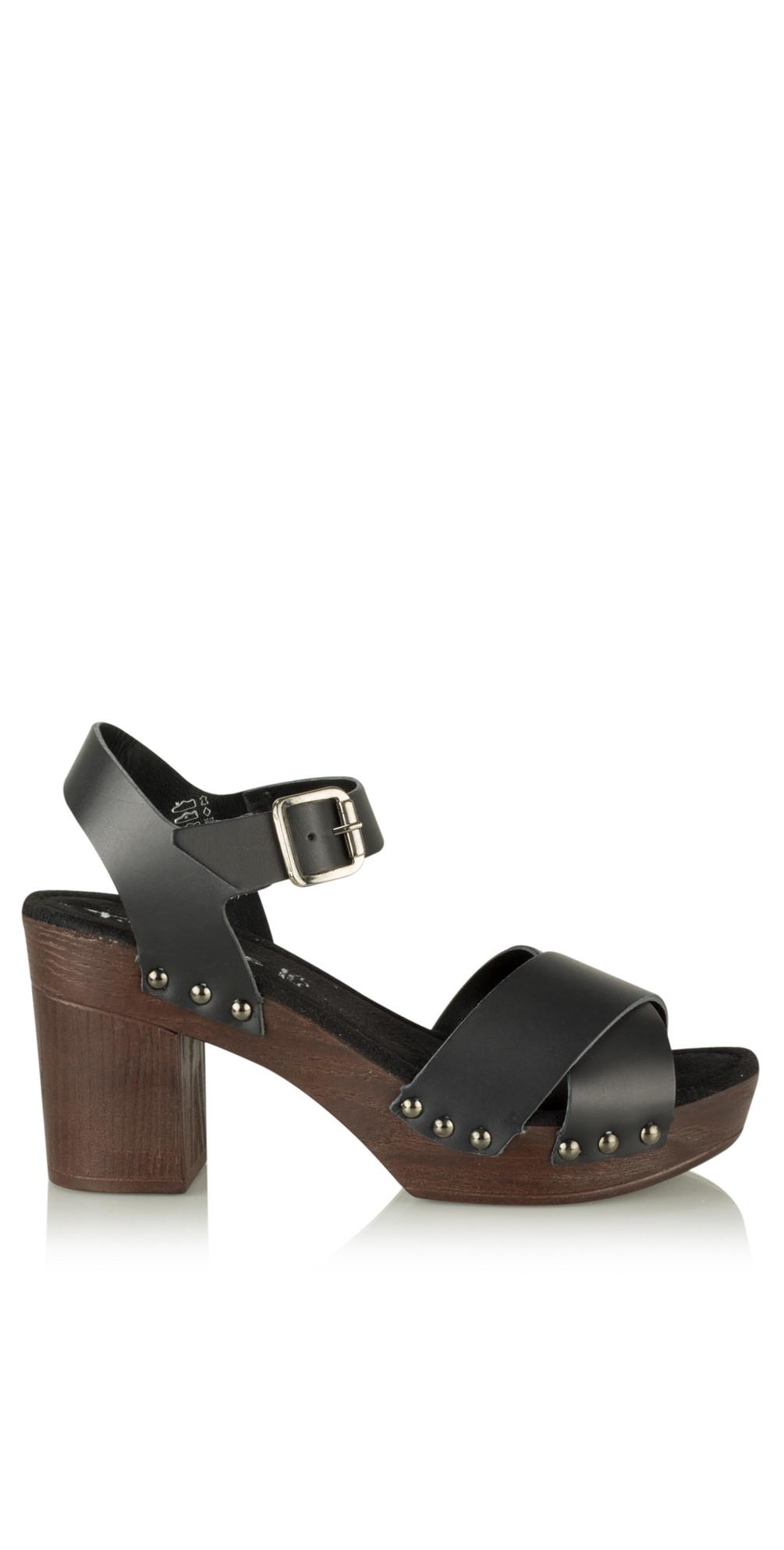 9653b88d84b Tamaris Leather Clog Sandal in Black