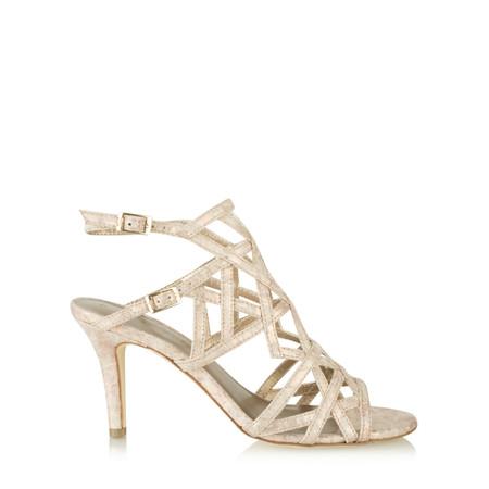 Tamaris   Strappy High Heel Sandal - Metallic