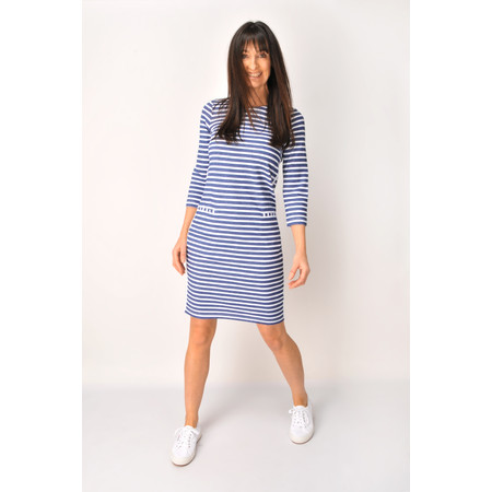 Sandwich Clothing French Terry Striped Jersey Dress - Blue