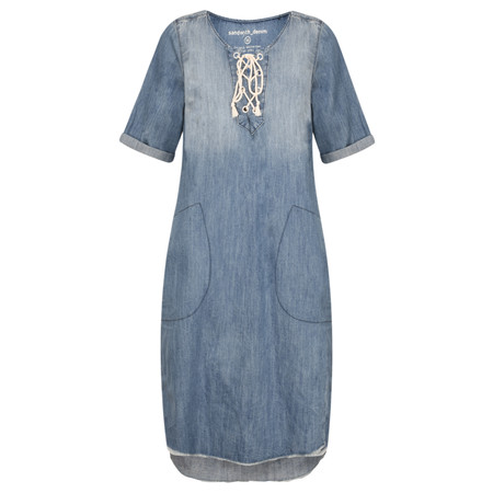 Sandwich Clothing Tie Detail Denim Dress - Blue