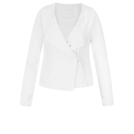 Sandwich Clothing Essentials Cotton Wrap Jacket - White