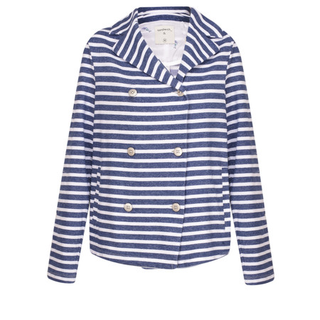 Sandwich Clothing French Terry Striped Blazer - Blue