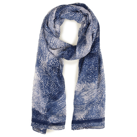 Sandwich Clothing Abstract Print Woven Scarf - Blue