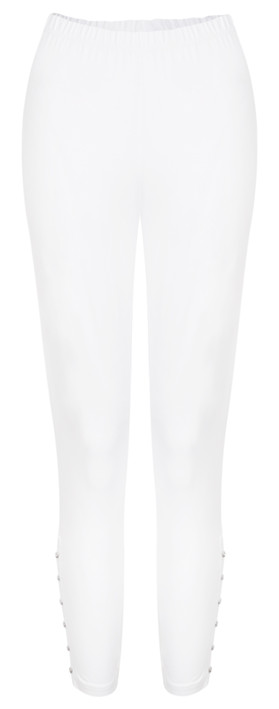 Sandwich Clothing Essential Cotton Cropped Leggings Pure White