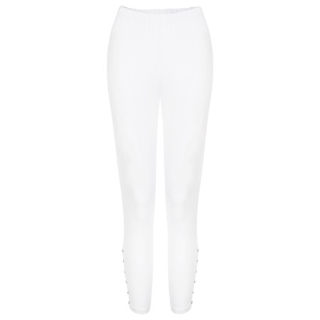 Sandwich Clothing Essential Cotton Cropped Leggings - White
