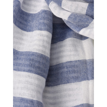 Sandwich Clothing Woven Striped Nautical Scarf - Blue